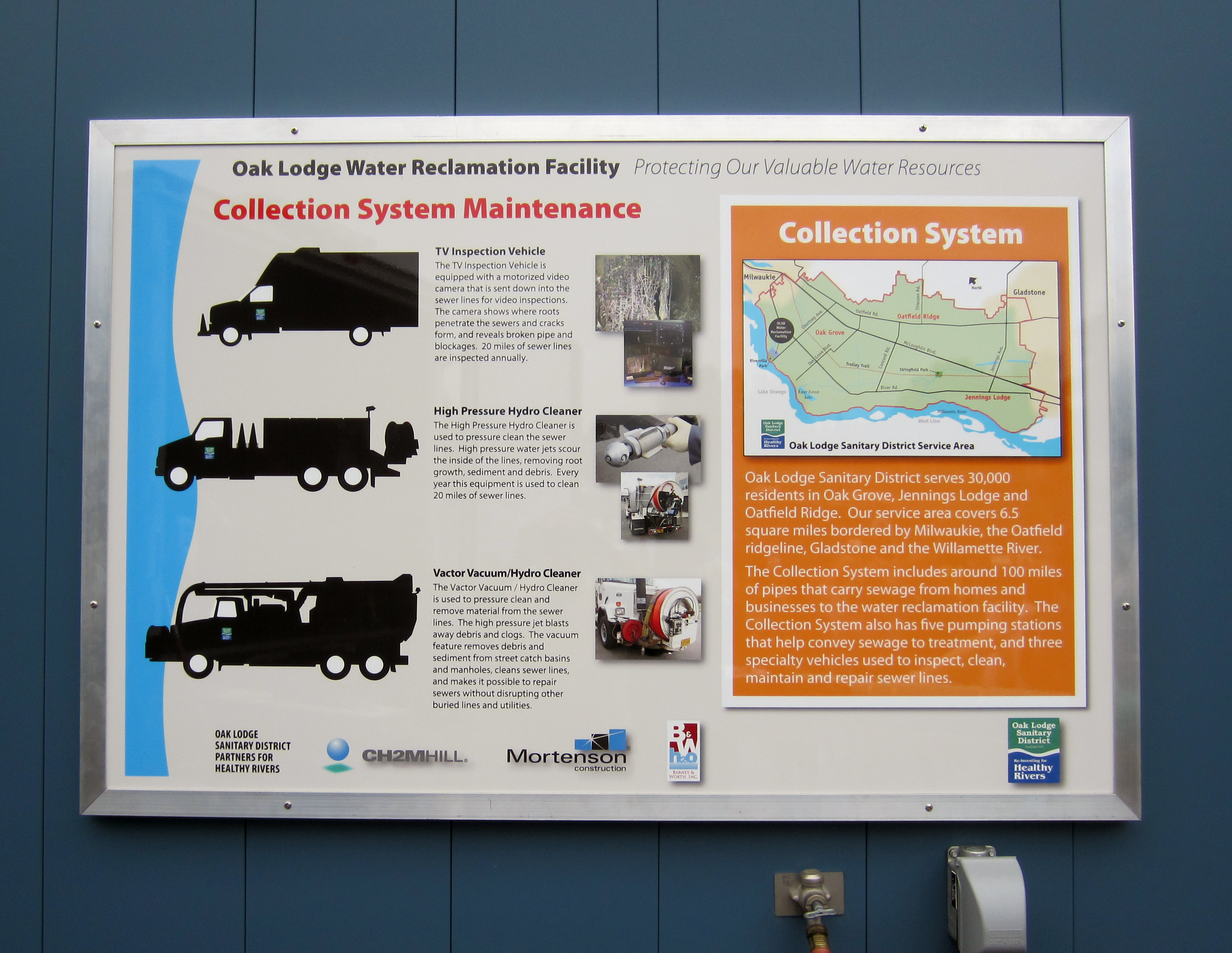Water Reclamation Facility Interpretive Signage – Maintenance