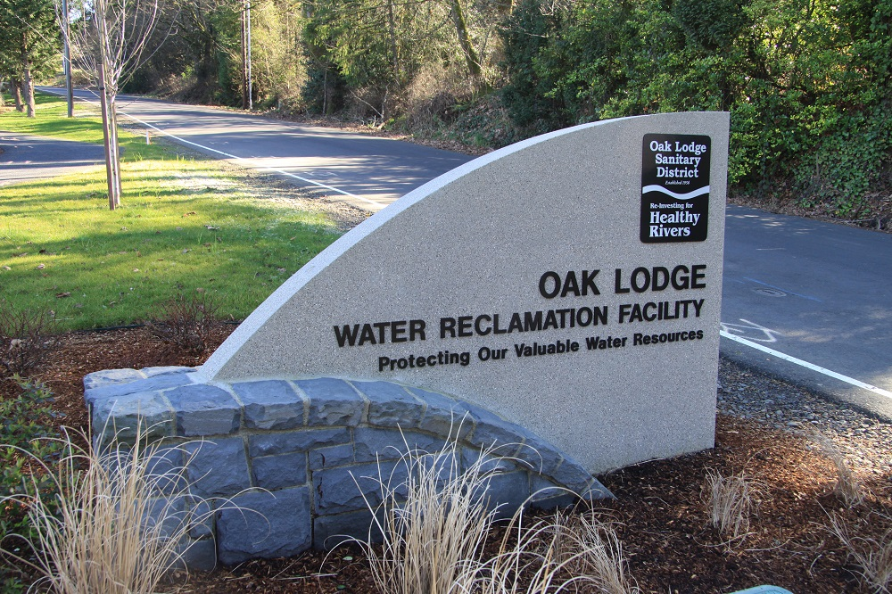 Water Reclamation Facility Entrance Monument Sign