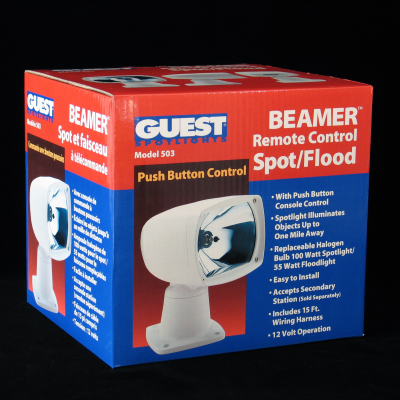Beamer Spotlight Corrugated Packaging – Front