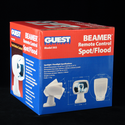 Beamer Spotlight Corrugated Packaging – Back