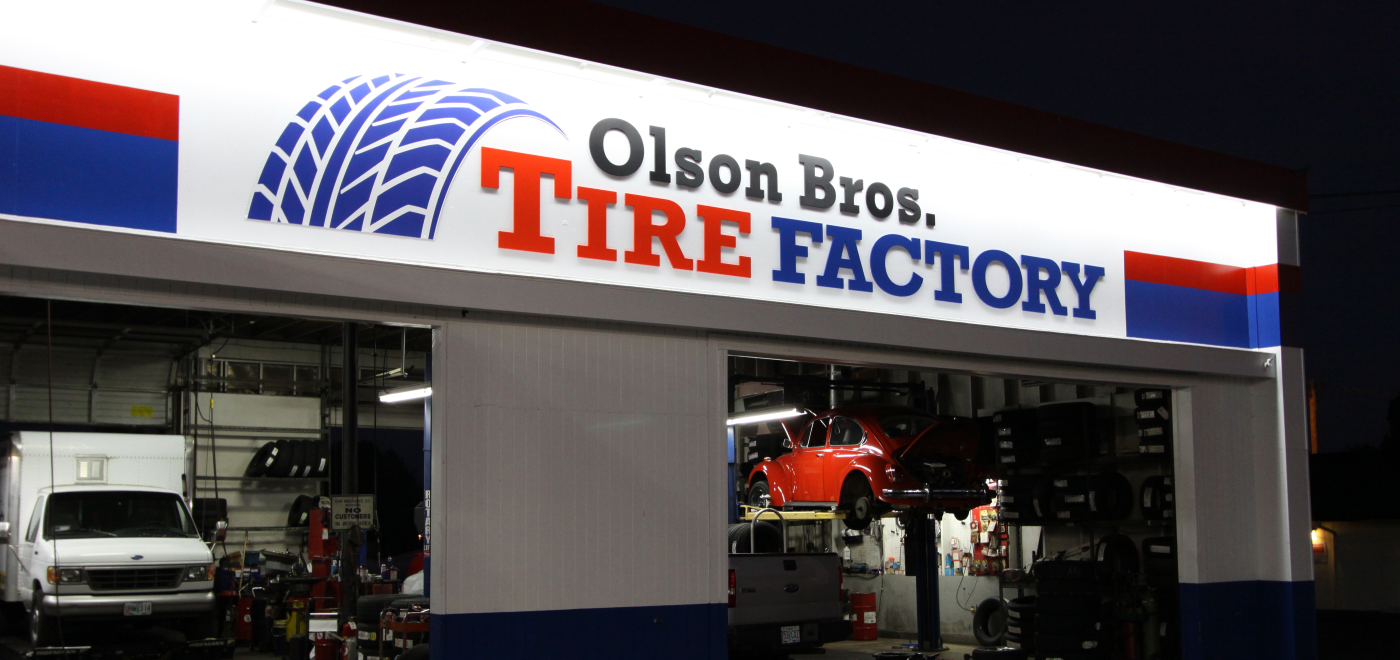 Olson Bros. Cut-Out Lettering Signage