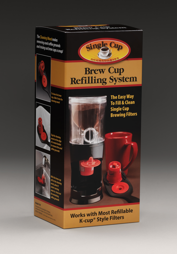 Retail Folding Carton for Brew Cup Refilling System
