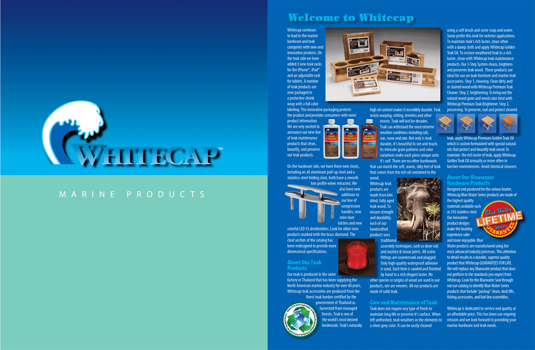 Whitecap Full Line Catalog, Front Cover and Inside Front Cover