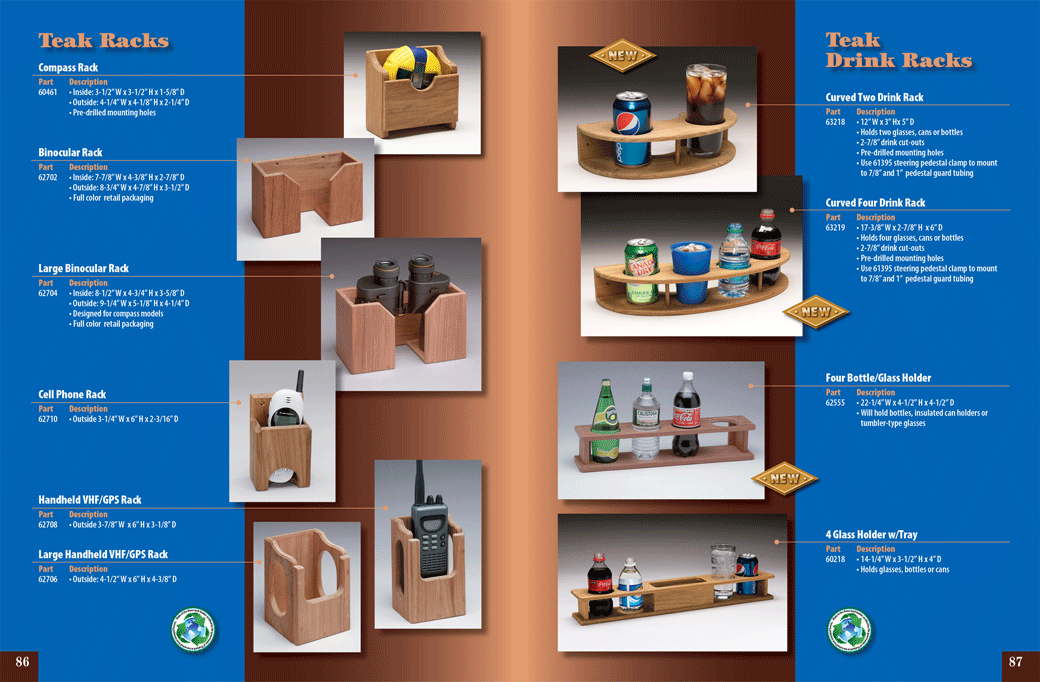Whitecap Full Line Catalog, Double Page Spread for Teak Products