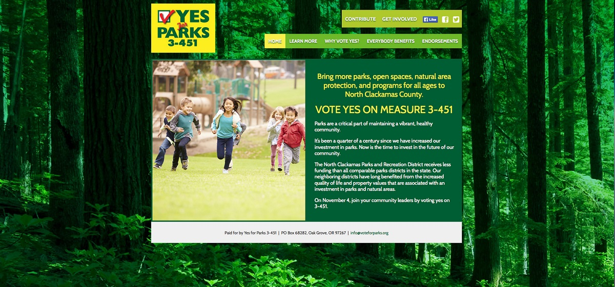 Yes For Parks Website