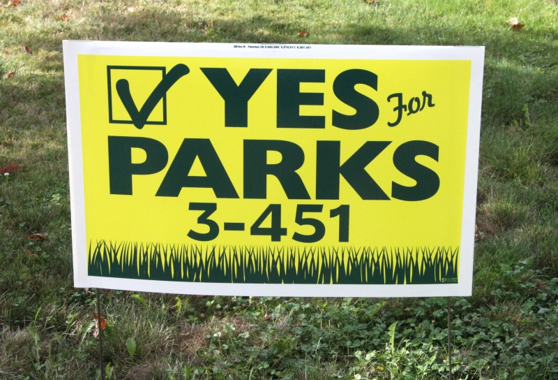 Two-Color Silk Screened Lawn Sign